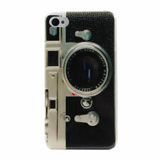 Fashion Retro Camera Style Pattern Mirror Hard Back Cover Case for iPhone 4/4S