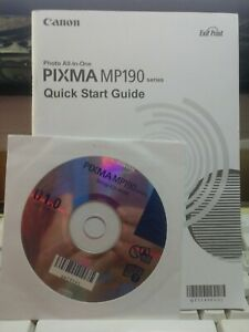 Canon PIXMA MP190 Quick Start Guide + Startup CD ROM (ONLY)
