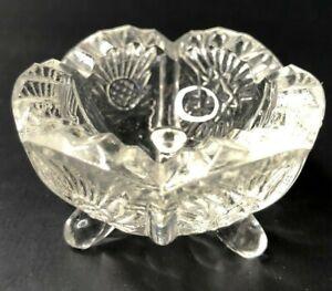 "EAPG HIGBEE ""OLD PANEL THISTLE"" OPEN SALT DIP Dish H&J #3050 Antique C.1915 OLD"