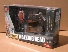 "McFarlane WALKING DEAD TV 5"" Deluxe BOX MORGAN WITH IMPALED WALKER & SPIKE TRAP"