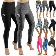Women High Waist Yoga Leggings with Pocket Gym Training Fitness Sportswear Pants