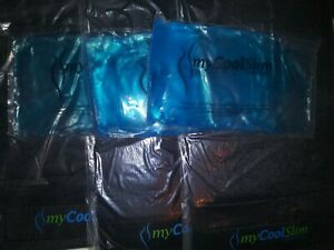 3 My Cool Slim Wraps By Freeze Fat Fast & 3 Large Gel Packs New Cold Toning
