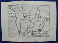 ANCIENT SOUTH AFRICA, MADAGASCAR original antique map, POMPONIUS MELA,1789
