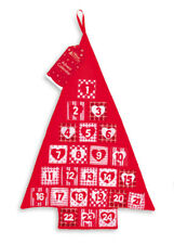 Red Fabric Christmas Tree Advent Calendar 24 Pockets To Add Your Own Gifts MATR