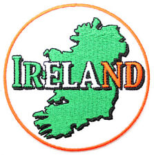 Irish Map Tricolour Ireland Embroidered Sew-on Cloth Badge Patch Appliqué
