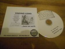CD Punk The Singing Loins - Here On Earth (12 Song) Promo DAMAGED GOODS cb