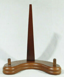 A Medium Wood Easel Type Display Stand! for Bowls Plates Fossils Photos & More!