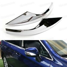 2 x Chrome Rearview Side Mirror Cover Trim Strip Fit for Subaru Outback 2015