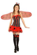 Teen Lady Bug Girls Small Size 6-8 Halloween Costume