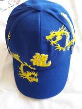 casquette de basket DRAGON, bleu et jaune.