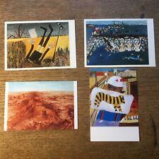 4 Mint Sidney Nolan Art Postcards #5479