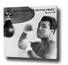 "MUHAMMAD ALI CANVAS ART PRINT POSTER PHOTO 30""x20"" MOTIVATIONAL QUOTE BOXING"