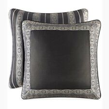 Set Of 2! J. Queen NY European Euro Sham Bridgeport Spa Blue Silver 26 X 26 New!