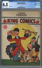 KING COMICS #32 CGC 6.5 POPEYE!! CREAM TO OFF-WHITE PAGES 1938