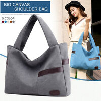 New Big Canvas Women Shoulder Bags Casual Tote Handbags Lady Shopping Bag Grey