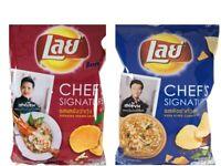 NEW LAY Chef's Signature Famous Thai chef Potato Chips Snacks Thai Food Recipes