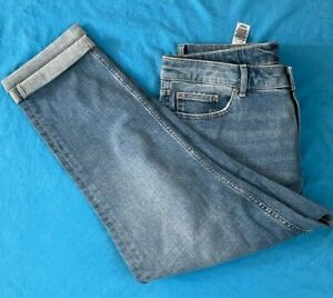 Ladies M & S Jeans-Relaxed Slim Fit. Brand New. Blue. FREE P+P. Size 16 x 24