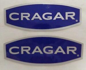 "**LOT OF 2** 5"" Cragar  Mag Wheel Sticker Decal Hot Rod Muscle Car Street Rod"