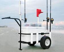 Fishing Carts With Wheels Pneumatic Beach Runner Sea Striker 7 Rod Holders Surf