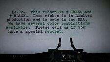 Brother Portable Typewriter Ink Ribbon - Black and Green Ink Ribbon  Made in USA