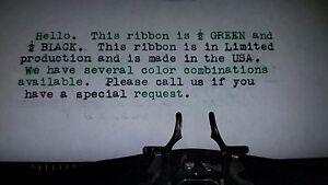 Universal Typewriter Ink Ribbon - Black and Green Ink Ribbon - Made in USA