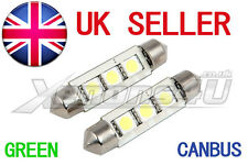 2x GREEN 3 SMD LED INTERIOR LIGHT BULB VW GOLF MK2 MK3 MK4 MK5 TDI GTI SDI R32