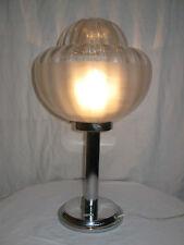 GRANDE LAMPE DESIGN ANNÉES 60/70 MÉTAL CHROMÉ ET VERRE/VINTAGE GLASS LAMP/N°B30