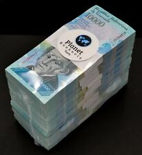 2017 Venezuela $10,000 Bolivares 1000 Pieces 1 Brick UNC Rare SKU5177 Blue Color