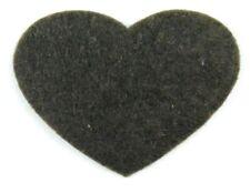 Filz-Applikation zum Aufbügeln Bügelbild 4-137 Herz Dunkelbraun