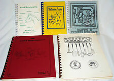 5 Community Cookbooks, spiral-bound paperbacks, Wisconsin 1970-90s