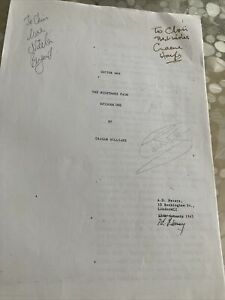 Dr Who Lost Story X1 The Nightmare Fair SIgned x3 Script 1985 Colin Baker
