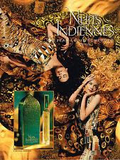 PUBLICITE ADVERTISING 035  1994  JEAN-LOUIS SCHERRER  parfum  NUITS INDIENNES