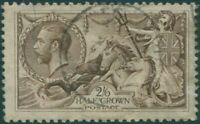 Great Britain 1913 SG400 2/6d sepia-brown KGV Sea Horses FU