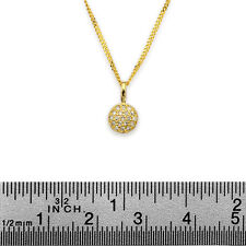 "14k yellow gold necklace H/SI pave set TCW 0.10 carats on 17"" 14k gold chain"