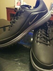 New Nike Air Zoom Precision Black Leather Golf Shoes 866065-002 Mens Sz 11.5
