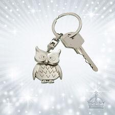 Eule Owl Schlüsselanhänger silberfarben Uhu Gilde 50962 Metall Anhänger GI-SH-88