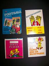 3 FLEER 1968 FOOTBALL STICKERS PLUS WAX WRAPPER IN NICE CONDITION