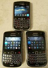 LOT OF 3 SPRINT BlackBerry- 2-BB Bold 9650 -1 BB 9630 EXECELLENT CONDITION