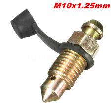 Kit M10 x 1.25mm Vis de purge Étrier de frein Bouchon Couverture Connexion Moto