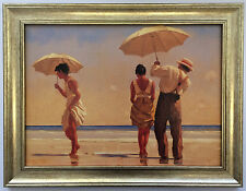 Mad Dogs by Jack Vettriano Framed Canvas Effect Print 55cm x 42cm Art