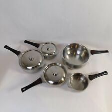 Triplinox 18/10 Stainless Steel 5 Pot/3 Lid Saucepan Pan Set Made In France DDLB