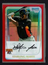 2011 Bowman Chrome Prospects Red Refractor #BCP178 Starling Marte 2/5 HT 17707