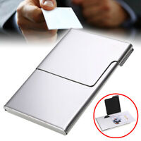 Pocket ID Credit Card Business Name Holder Stainless Steel Case Wallet Silver