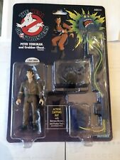 The Real Ghostbusters - Peter Venkman & Grabber Ghost Retro Action Figure NIB