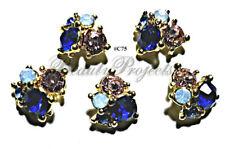 5pc Nail Art Charms 3D Nail Rhinestones Decoration Jewelry DIY Bling - C75