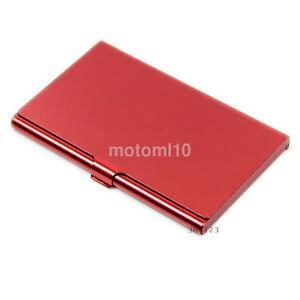 Fashion Man's Metal Aluminum Pocket Business Credit ID Card Case Box Holder US