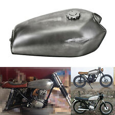 Silver Motorcycle Universal Cafe Racer Fuel Gas Tank 2.4gal 9L For Honda CG125
