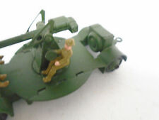 VINTAGE EARLY DINKY TOY MILITARY REPLACEMENT SEATED GUNLAYER #160 ARMY TIN HAT