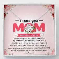 Necklace Mother Day Gift You Mean The World Jewelry For Mother