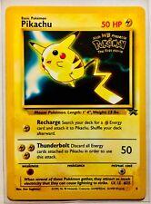 basic pokemon pikachu Black star 1st movie promo card with gold print gem mint!